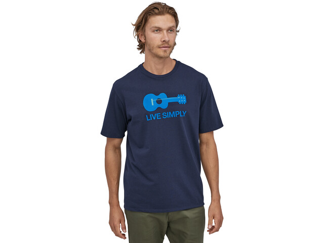 Patagonia Live Simply Guitar T-shirt Homme, classic navy